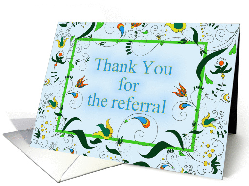 Thank You For the Referral card (1379160)