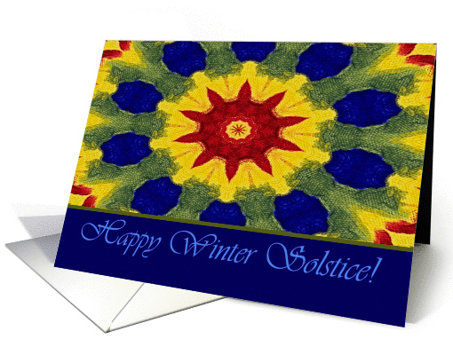 Happy Winter Solstice, Rose Window Painting card (911968)