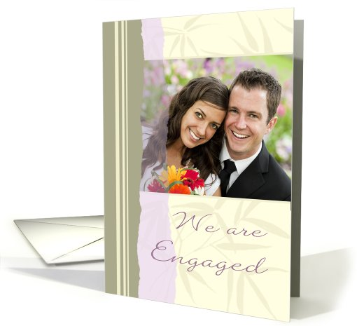 Engagement Announcement Photo Card - Lavender and Beige card (839309)