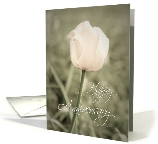 Happy Anniversary - Pink Tulip card (444616)