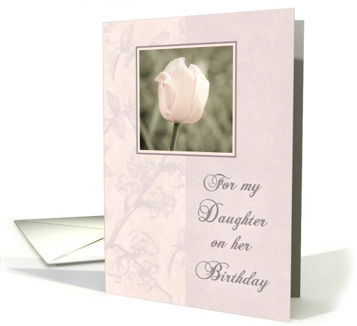 Pink Tulip Daughter Birthday card (471307)