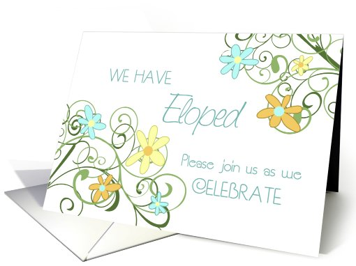 Garden Flowers Elopement Party Invitation card (604725)