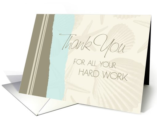 Happy Administrative Professionals Day - Blue & Beige Seashells card