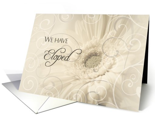 Elopement Party Invitation - Flowers & Swirls card (778307)