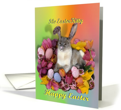 Easter Kitty card (582813)