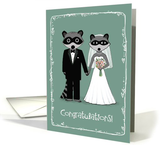 Raccoons Wedding Congratulations card (887966)