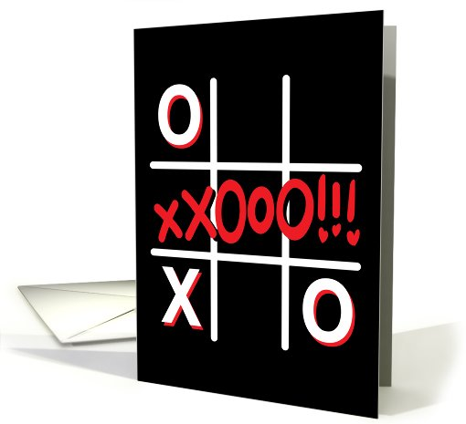 Tic tac toe Love card (451887)