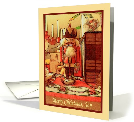 Merry Christmas Son toy soldier card (829606)