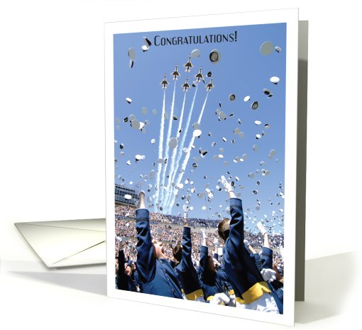 Graduation / US Air Force Academy, Cadets throwing hats card (623245)