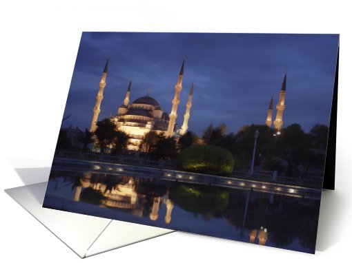 The Blue Mosque in Istanbul, Turkey card (470752)