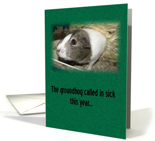 Guinea Pig Day card (539570)