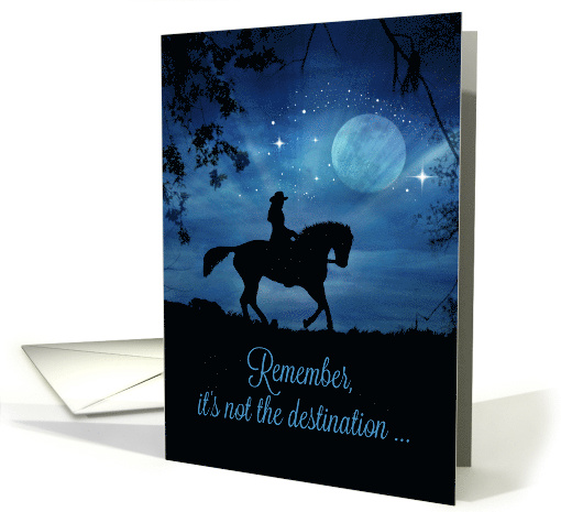 Happy Birthday Rider in Moonlight With Horse and Stars card (1472922)