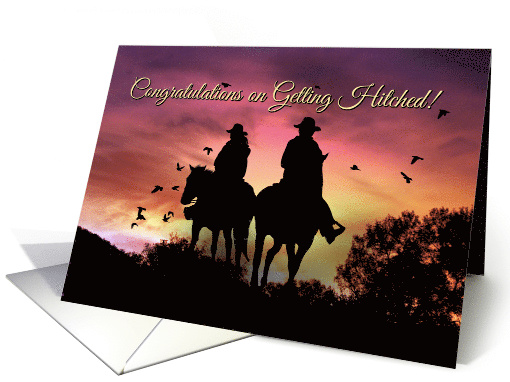 Rustic Country Western Congratulations Wedding with... (1482082)