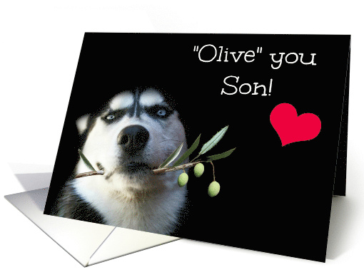 Son Happy Valentine's Day, Cute card for Son on Valentine's Day card