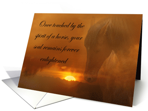 Spiritual Horse Equine Sympathy for Loss Of Horse card (697616)