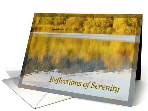 Reflections of Serenity 12 Step Recovery Encouragement card (849646)
