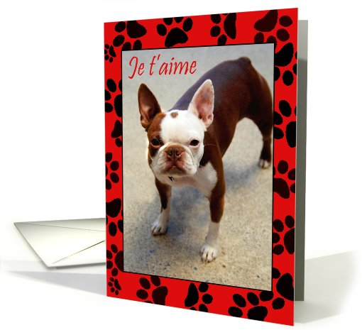 I love you - Kiss me! FRENCH card (742699)
