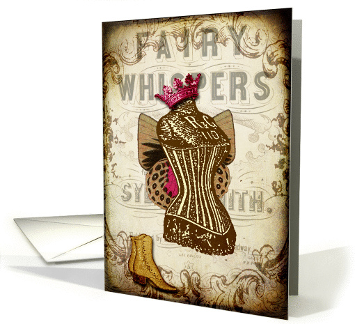 Vintage Corset Fairy- Any Occasion card (847921)