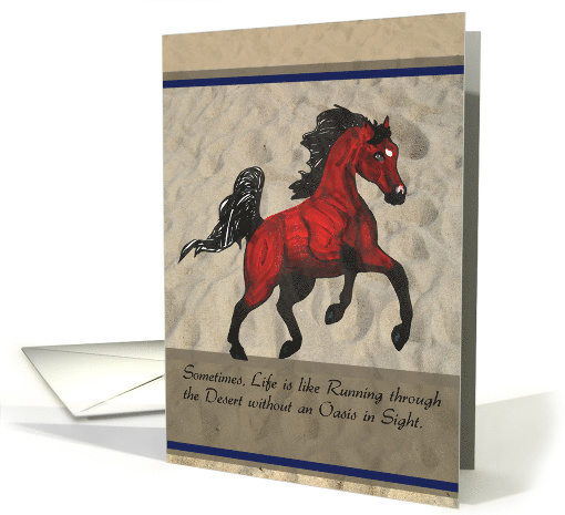 Running Arabian Horse Thank You for your Kindness card (1125980)