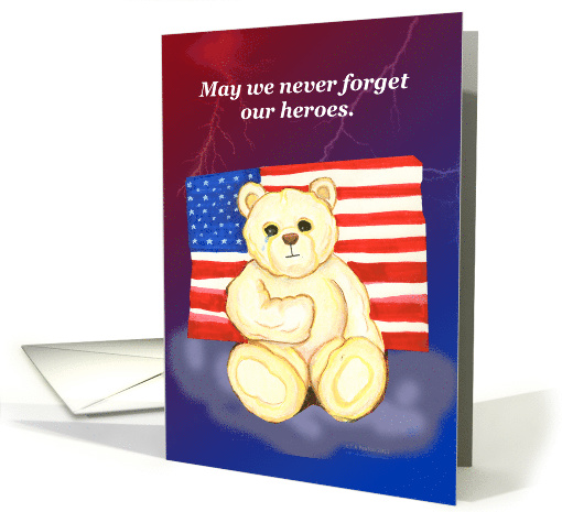 Remember the Heroes American Patriot Bear card (859119)