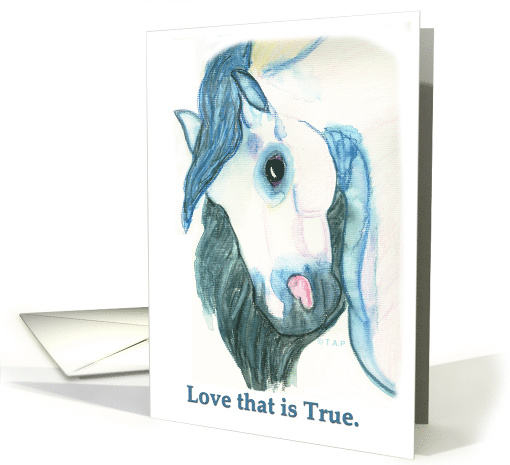 Andalusian Horse Head Love that's True Valentine card (518036)