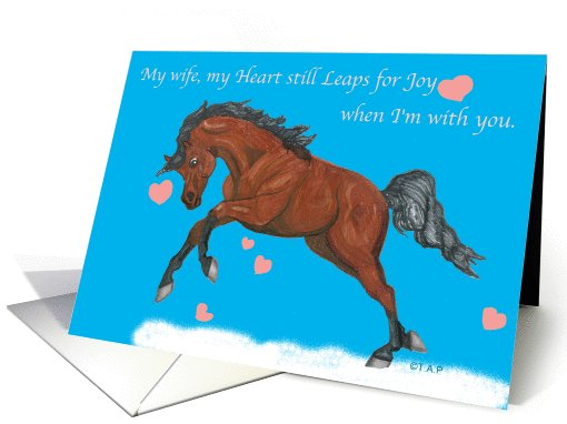 Wife Heart Leap Horse Valentine card (554623)