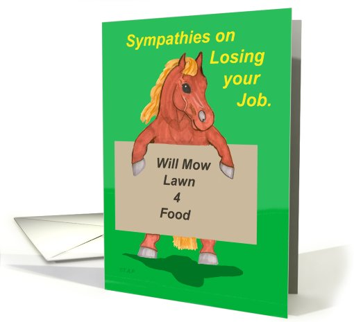 Sympathies on losing Job Horse card (570594)