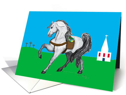 Andalusian Horse Christian Easter card (572946)