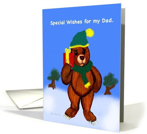 Special Holiday Wishes for Dad card (735537)