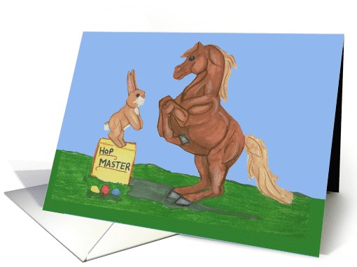 Easter Bunny with Horse card (790900)