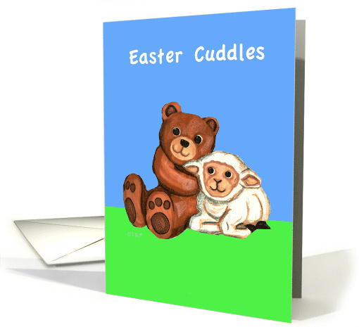 Easter Cuddles Teddy Bear and Lamb card (790916)