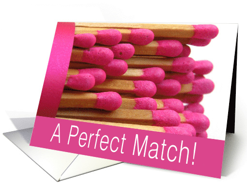 Perfect Match Wedding Day Congratulations card (755627)