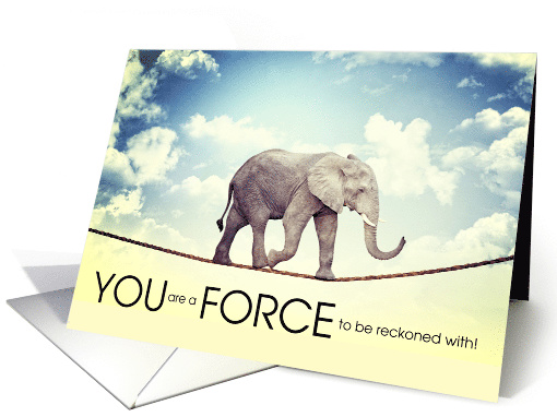 Encouragment Elephant on a Tightrope card (1523042)