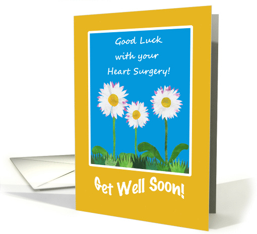 Chic Get Well Card, Heart Surgery, Daisies card (1269206)