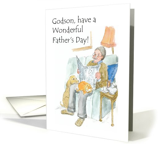 Father's Day Greeting Card for Godson card (817647)