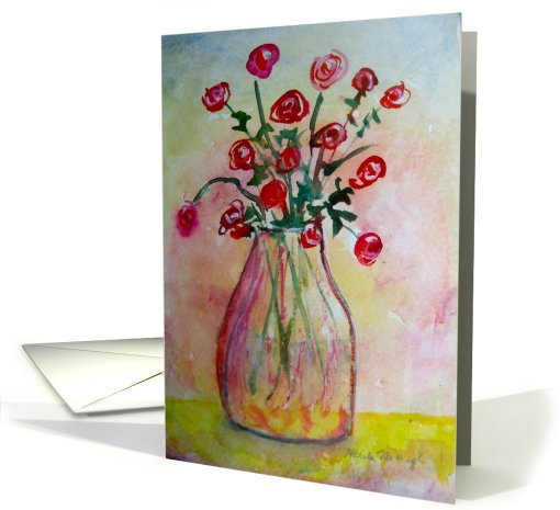 Country Flowers card (544796)