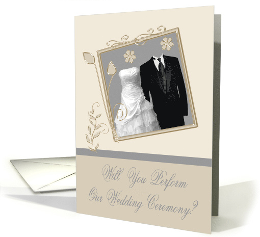 Invitations, Will You Perform Our Wedding Ceremony, gown... (909963)
