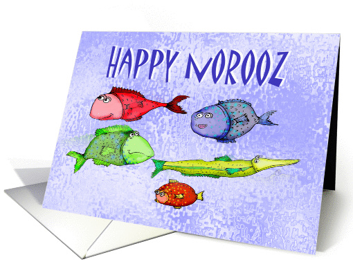 Happy Norooz, swimming fish, humor.for husband card (904276)