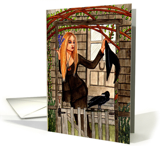 Cottage Witch - Witch & Halloween Art card (1449974)
