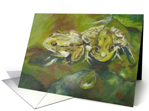 Did you hear that??, Frogs on Lily Pads card (614888)