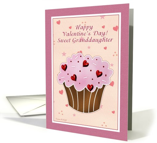 Granddaughter Happy Valentines Day - Cupcake card (752606)