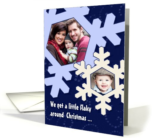 Christmas Flakes-Happy New Year Photo card (873850)