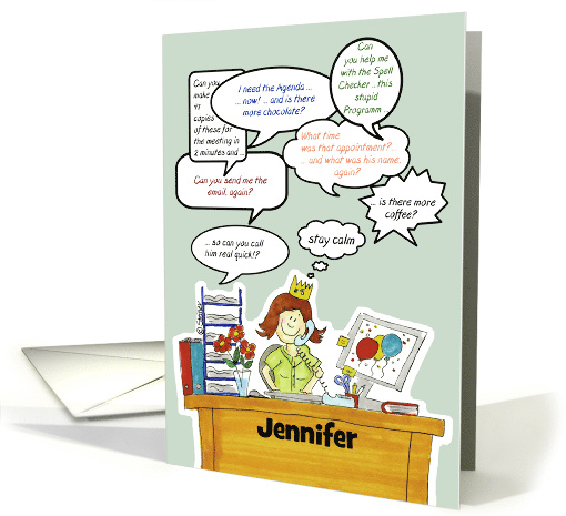 Humorous Administrative Professionals Day /Secretary,... (911517)
