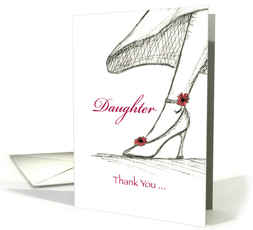 Daughter ,Thank you for being my Maid of Honor card (933081)