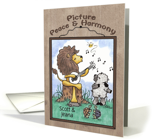 Customizable Names, Anniversary Lion & Lamb, Picture... (1560206)