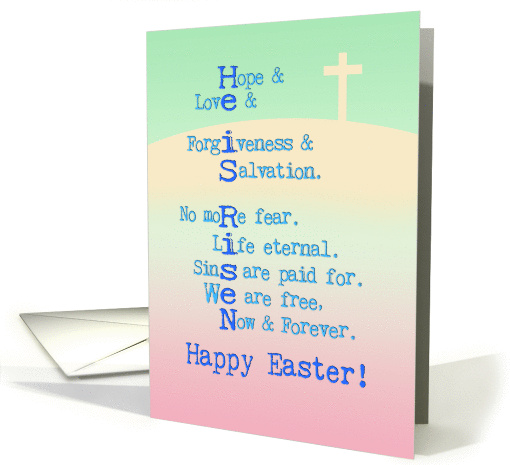 Happy Easter, He is Risen, Christian, cross, pastel... (1053987)