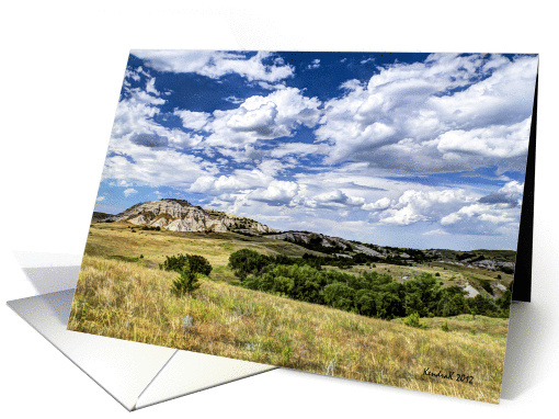 Buttes on the Dakota Prairie - all occasion - note card (941812)