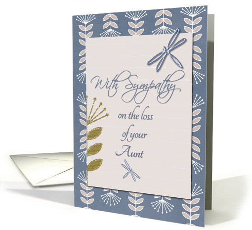 Sympathy Loss of Aunt Dragonflies and Flowers card (1237878)