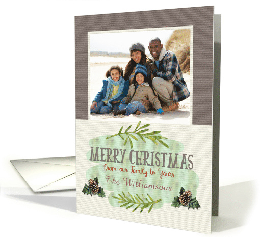 Merry Christmas Custom Name and Photo Our Family to Yours... (1393632)