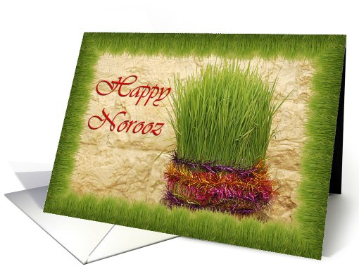 Happy Norooz - wheat grass card (725711)